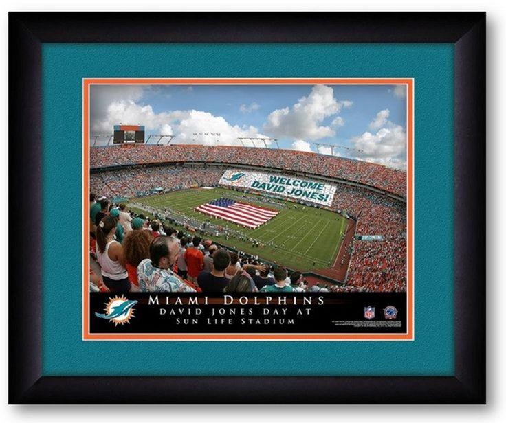 Miami Dolphins NFL Personalized Stadium Print Miami