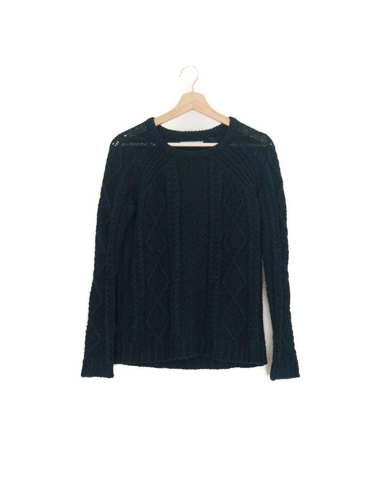 Jersey lana, verde botella, Otoño Invierno, Pull&Bear Wool sweater, dark green, Autumn Winter