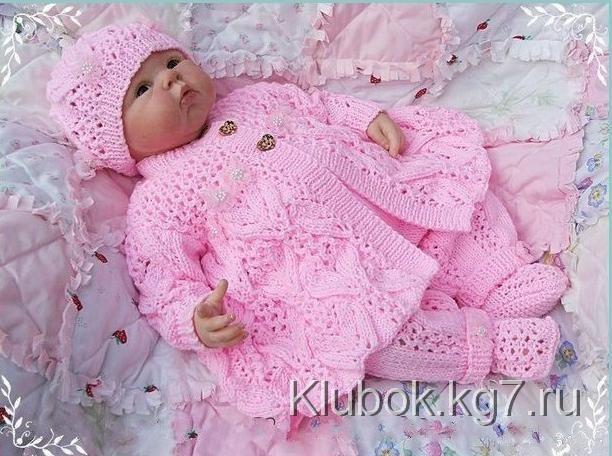 Вязаные изделия спицами для новорожденных