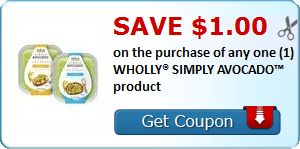 New Coupon!  Save $1.00 on the purchase of any one (1) WHOLLY® SIMPLY AVOCADO™ product - http://www.stacyssavings.com/new-coupon-save-1-00-on-the-purchase-of-any-one-1-wholly-simply-avocado-product/