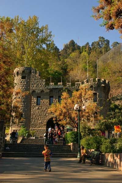 Ingreso al Parque Metropolitano por el funicular- Santiago