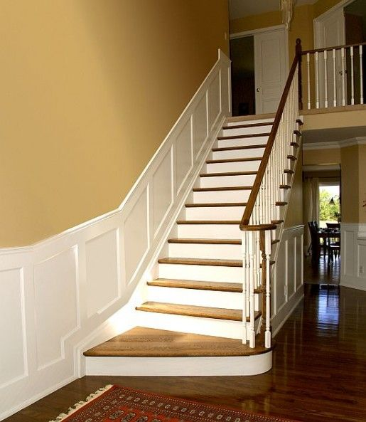 Foyer Staircase Kits : Another look at the flawless way wainscoting can be used
