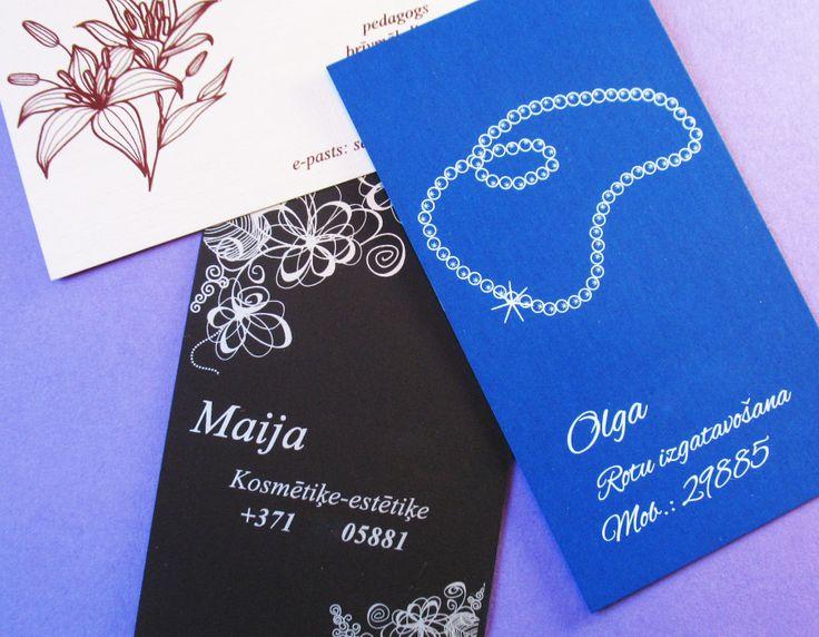 Women style business cards / Sievišķīgas vizītkartes / Женственные визитки
