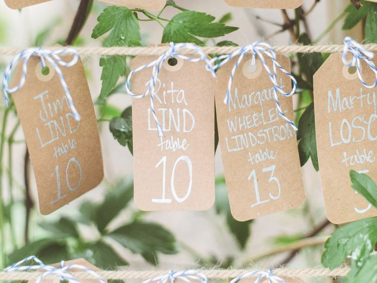 Wedding Reception Etiquette: Place Cards for Wedding Guests' Dates? | Photo by: Paper Antler | TheKnot.com