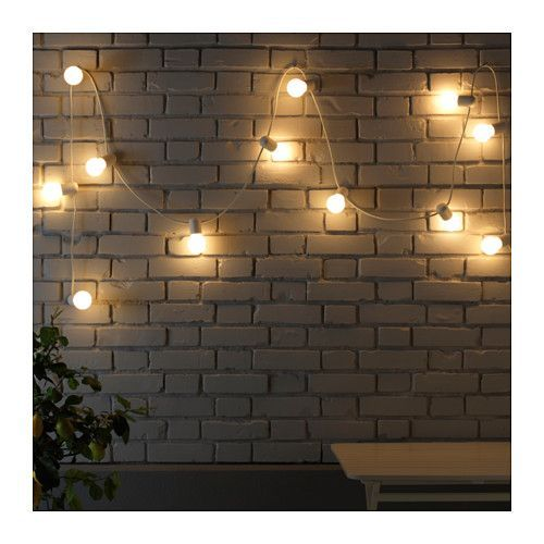 STRÅLA LED light chain with 12 lights IKEA The LED light bulb consumes up to 85% less energy and lasts 10 times longer than incandescent bulbs.