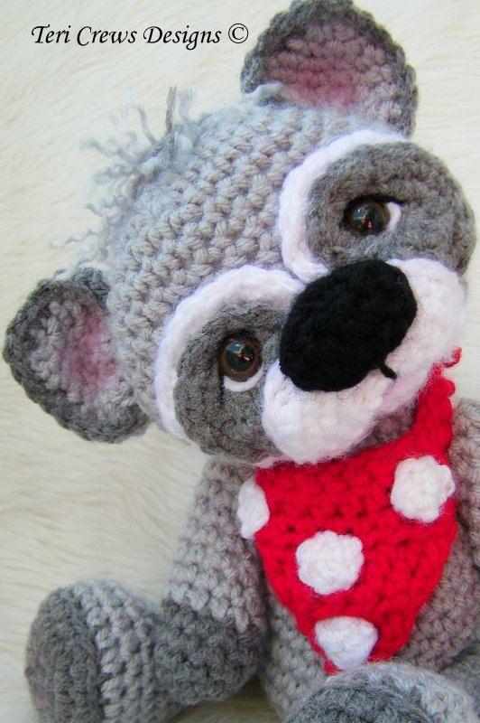Raccoon Crochet Pattern PDF Format Teri Crews. $4.95, via Etsy.