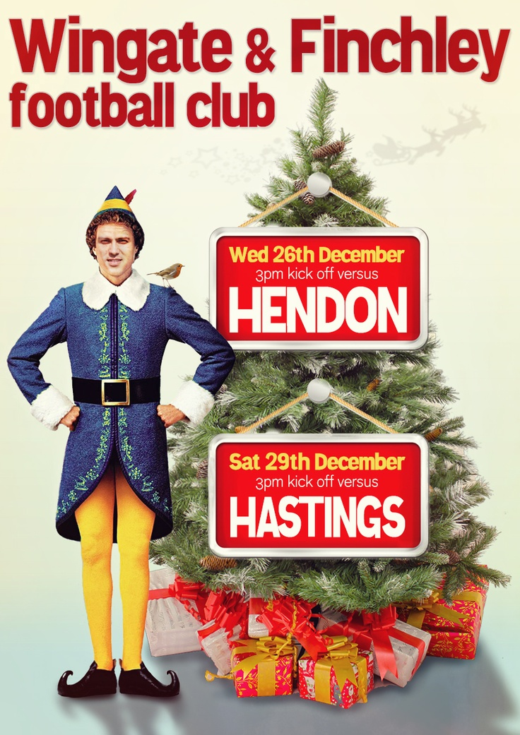 Xmas match poster for Wingate & Finchley FC
