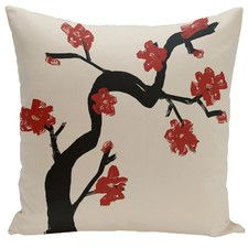 Floral Down Throw Pillow
