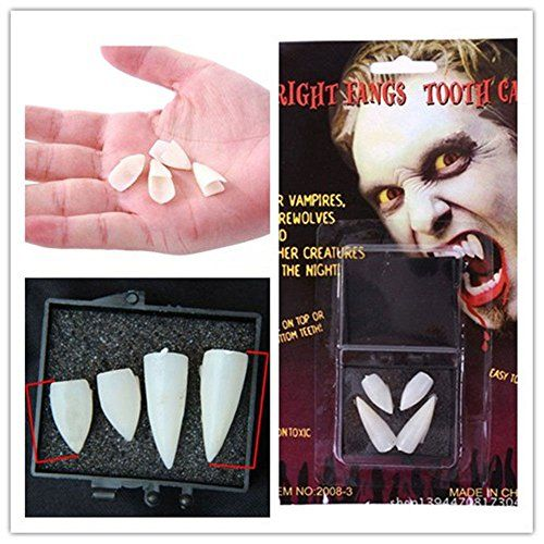 Estone Dentures Vampire Zombie TeethGhost Devil Werewolf Fangs for Costume Party Halloween Props -- Click image for more details.Note:It is affiliate link to Amazon.