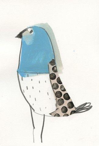 simple bird sketch