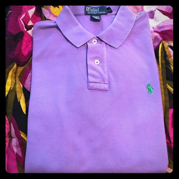 Shop Men's Polo by Ralph Lauren size L Polos at a discounted price at Poshmark. Description: Large, regular fit Ralph Lauren Polo. Color is lavender/light purple. Some slight wear where I had to attach a magnetic name badge (see photos). Sold by cskirby. Fast delivery, full service customer support.