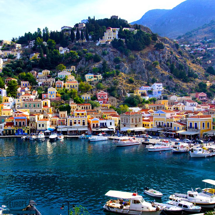A quick day trip from Rhodes Old Town to the island of Symi, #Greece. #survivingeurope