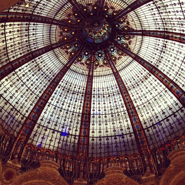 The stained glass dome at Galeries Lafayette...