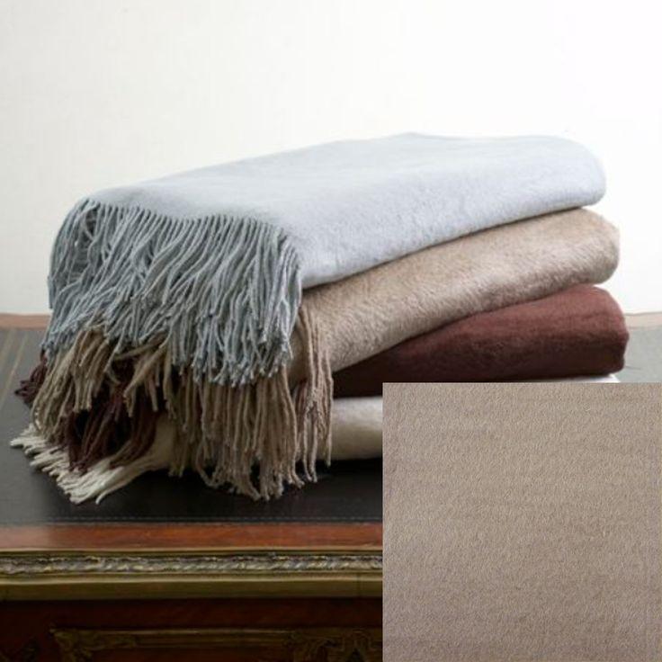 Ann Gish Silk Fleece Throw - Taupe