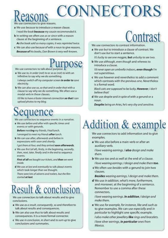 connective words in academic writing