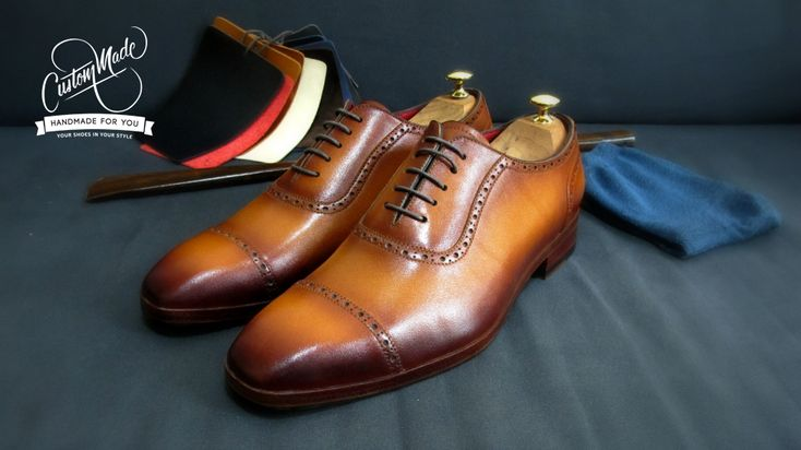Tan Patina Adeliade - Stylish (perfect with navy blue and grey suit) - CustomMade Shoes