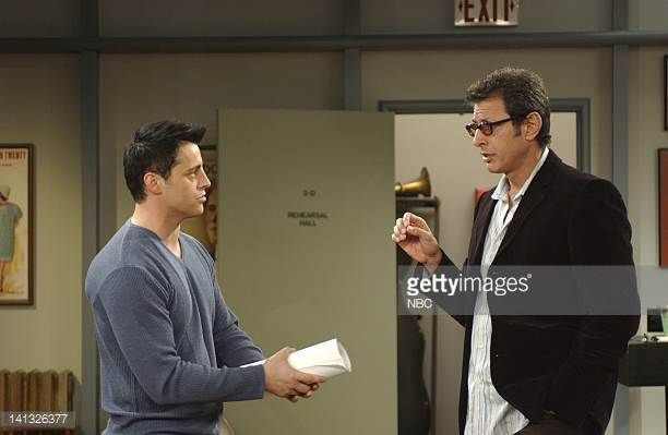 FRIENDS 'The One with the Mugging' Episode 15 Aired 2/13/2003 Pictured Matt LeBlanc as Joey Tribbiani Jeff Goldblum as Leonard Hayes Photo by NBCU...