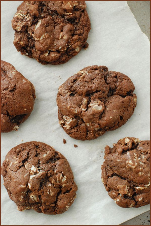 Spiced Chocolate Oat Cookies