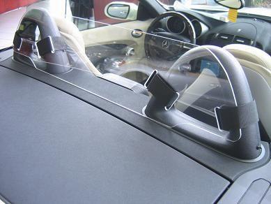 Mercedes SLK 55 AMG #Windscreen, #Windblocker, #Winddeflector, by windblox http://www.windblox.com/