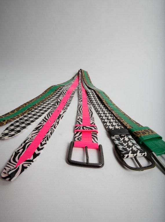 Duck tape belts.