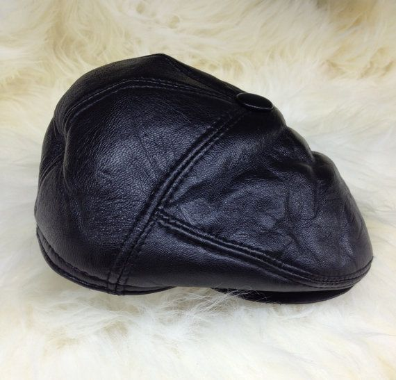 Real shearling cap with metal studs and ears. by BeFur on Etsy, €19.50