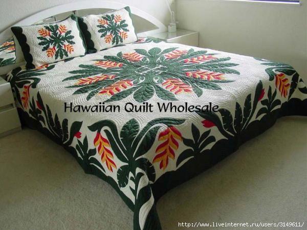 Eu Amo Artesanato: Quilt havaiano (Patchwork) passo a passo e com molde