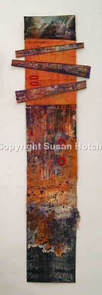 Ardwick - screen printed , stitched felt - Artist: Sue Hotchkis
