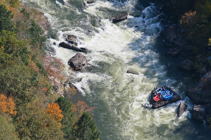 Arial view of SWEETS FALLS - rafting the Gauley River, West Virginia. I'll be back!