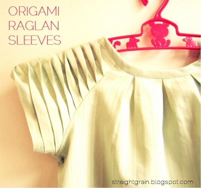origami raglan sleeves tutorial...awesomeness!