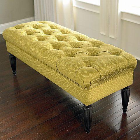 Custom Bench Rectangle Bench Tufted Furniture Ottoman Furniture Furniture