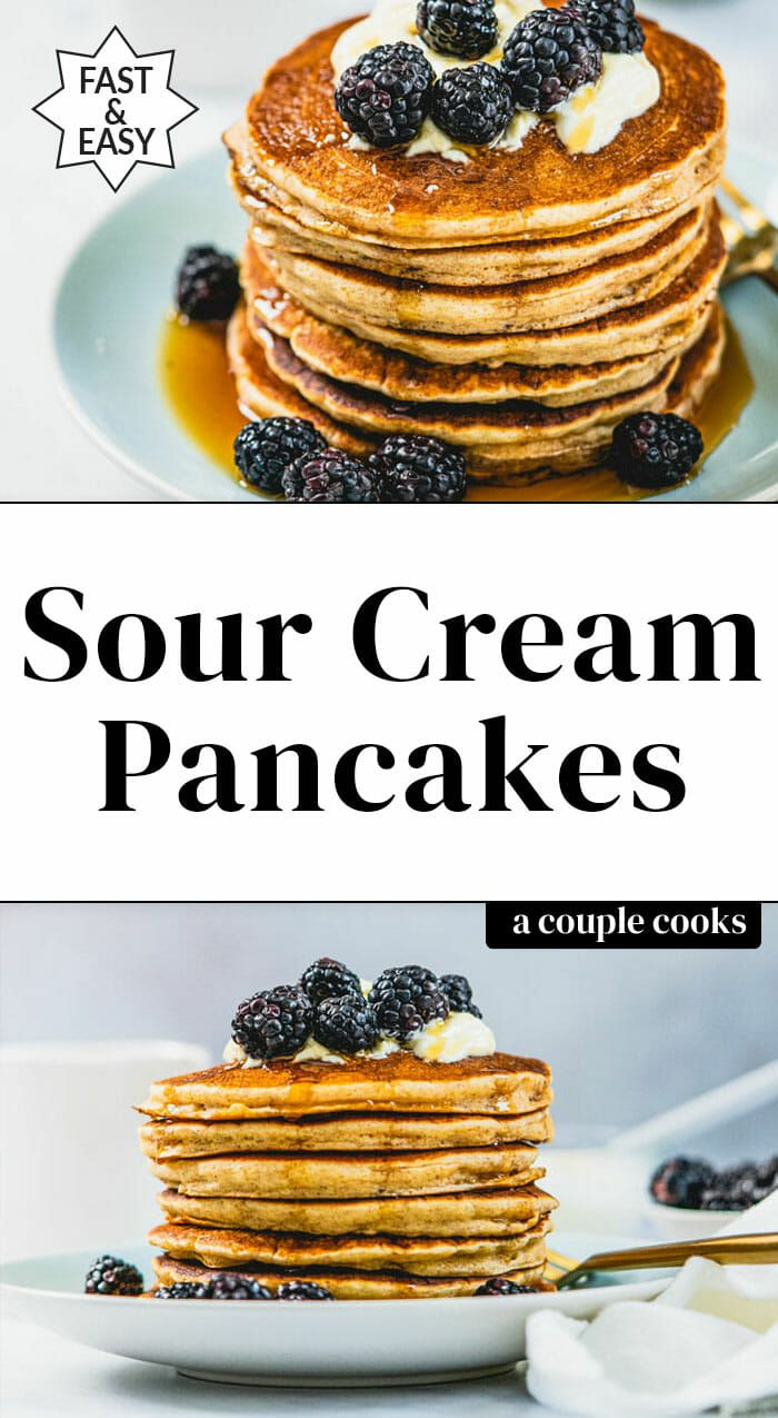 Sour Cream Pancakes Perfectly Fluffy A Couple Cooks Recipe In 2020 Sour Cream Pancakes Homemade Sour Cream Sour Cream Recipes