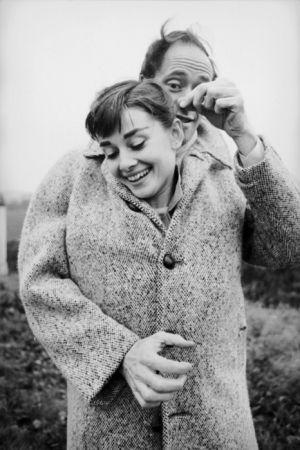 Audrey Hepburn and husband Mel Ferrer frolicking in France, 1956. :)