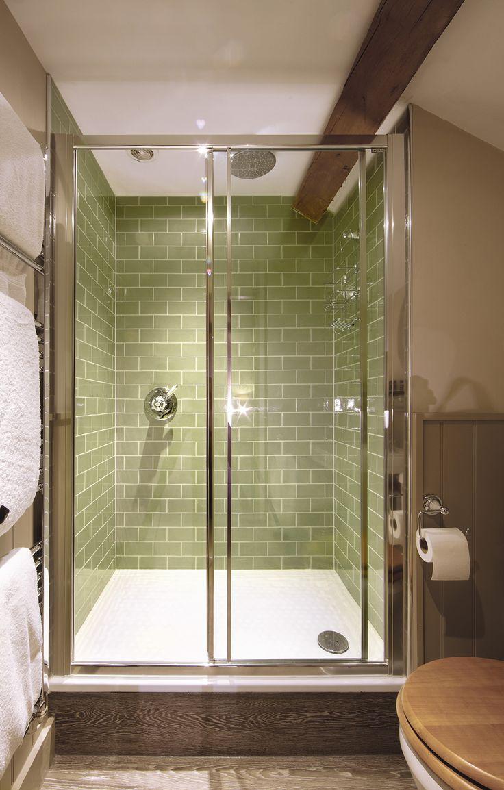 Sage Green Crackle Glazed Bathroom Tile From Our Harlo