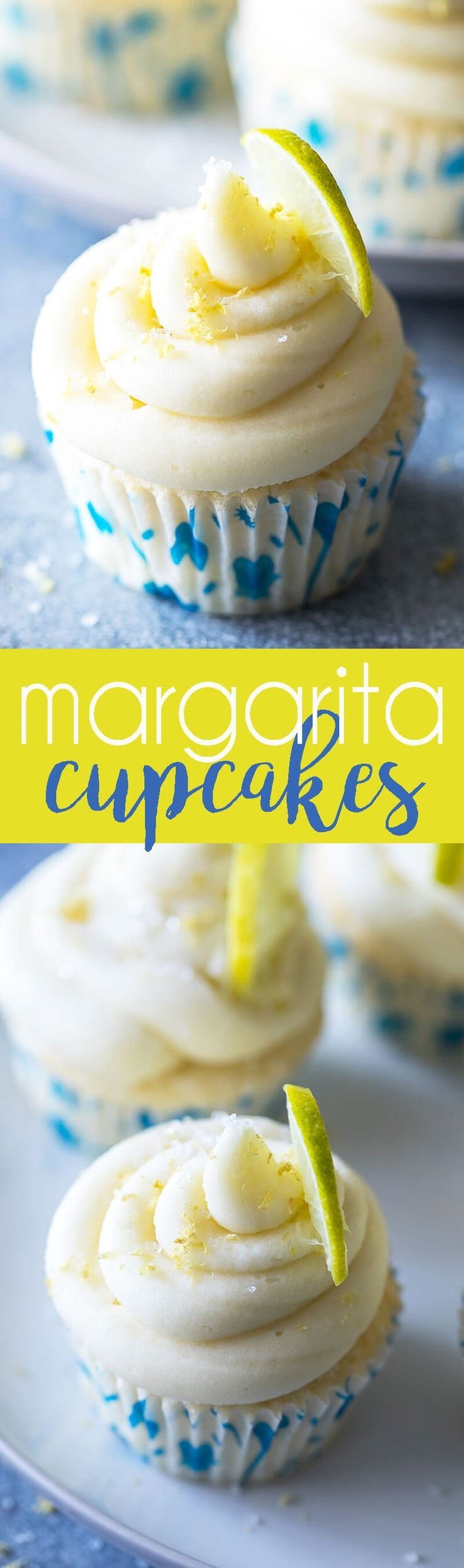 Margarita Cupcakes are lime infused cake and a delicious frosting