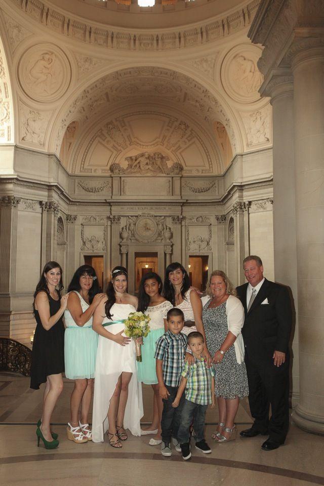 Heather and John, Wedding at San Francisco City Hall. #sanfranciscocityhallphotographer #maternitywedding #sfcityhallwedding www.rachellevinephoto.com