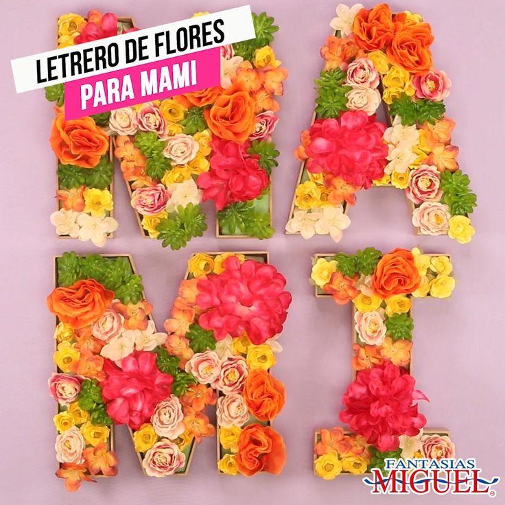 Qué mejor regalo para mamá que uno hecho por ti! Realiza éste fácil letrero de flores para que tu mamá decore su espacio favorito. Moms 50th Birthday, Birthday Gifts, Diy And Crafts, Arts And Crafts, 50th Party, Mom Day, Paper Decorations, Craft Gifts, Gifts For Mom