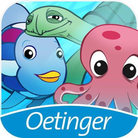 Regenbogenfisch Abenteuerwelt! Eine bunte APP mit vielen Lernspielen, toller Musik und natürlich Glitzerschuppen. Für Spieler ab 4 Jahren.