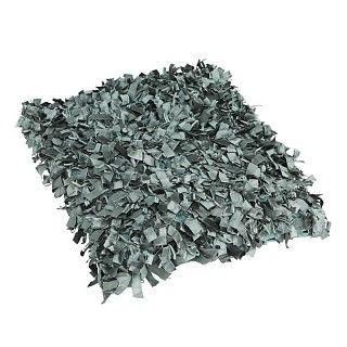 Kussen Amazone. Suède sierkussen met vierkante sliertjes, donker mint. Afmeting 45 x 45 cm. €22.95