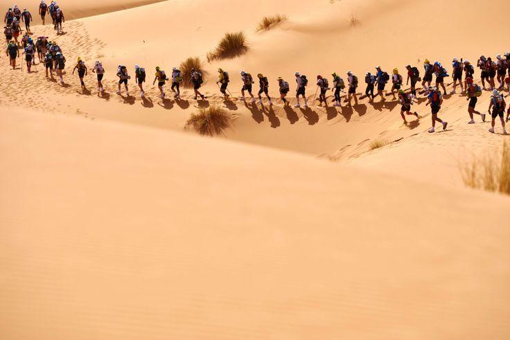 El Maratón de las Arenas pone a prueba la resistencia humana. Los participantes en la 31 edición del Maratón de las Arenas se enfrentan a 257 kilómetros en el sur del desierto del Sáhara marroquí, bajo uno de los climas más inhóspitos del mundo. -