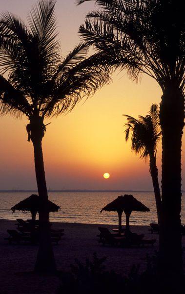 """""""Sunset"""" United Arab Emirates, Dubai, Beach by Wolfgang Kaehler"""