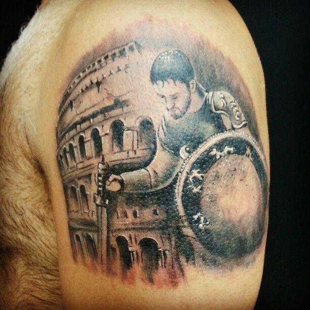 #gladiator #collesium #tattoo #redwolftattoo #istanbul