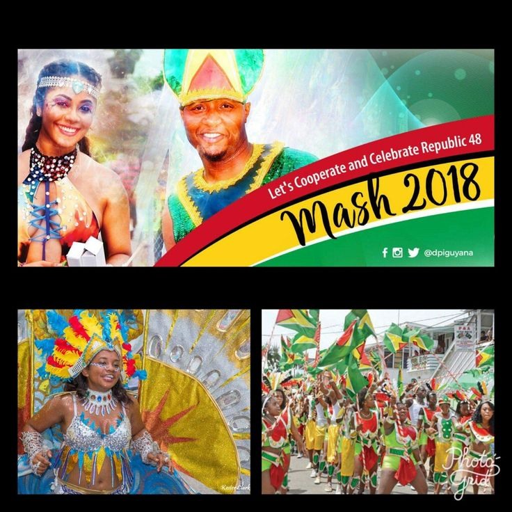 "February 23: 🇬🇾🇬🇾🇬🇾🇬🇾 Wishing my Guyanese family a Happy 48th Republic Day and Mashramani 🇬🇾🇬🇾🇬🇾🇬🇾   Mashramani, often abbreviated to ""Mash"", is an annual festival that celebrates Guyana becoming a Republic in 1970. The festival, usually held on 23 February – Guyanese Republic Day – includes a parade, music, games and cooking and is intended to commemorate the ""Birth of the Republic"". In 2016, the Mashramani parade was held on May 26, the 50th anniversary of Guyana's…"