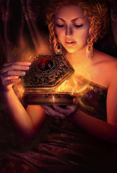 """Pandora (do grego: Πανδώρα, """"a que tudo dá"""", """"a que possui tudo"""", """"a que tudo tira"""") foi a primeira mulher, criada por Hefesto e Atena a pedido de Zeus com o fim de agradar aos homens."""