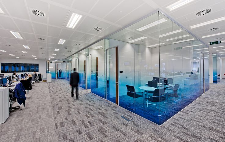 Blue faded Optically clear window graphics