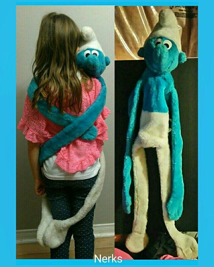 "Vintage Smurf Puppet 40"" plush wrap around arms and legs w/velcro Ganzbros. $20.00 CDN +ship."