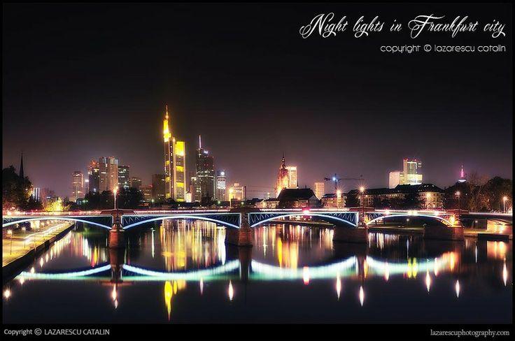 Beautiful Germany - Frankfurt city by night