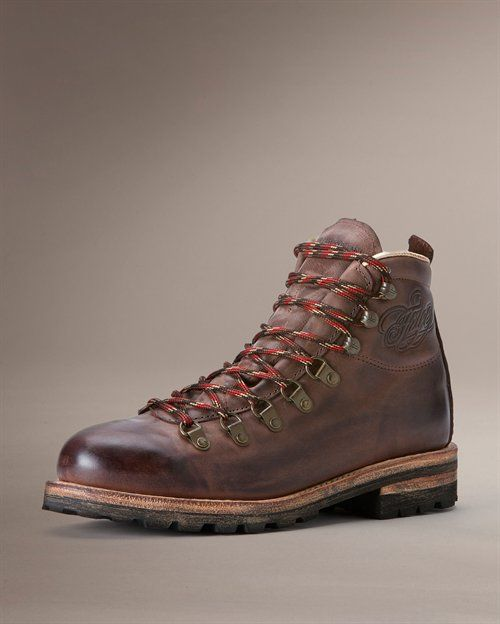 Ever since I worked on the mountain I've had an affection for old school hiking boots and this pair by the Frye Boot Company set the bar pretty high!