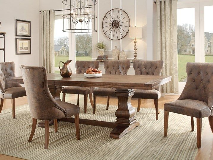 This Country Cozy Room Is The Perfect Dining Space For Your Family To Gather Around 7 Piece SetExtendable TableKitchen