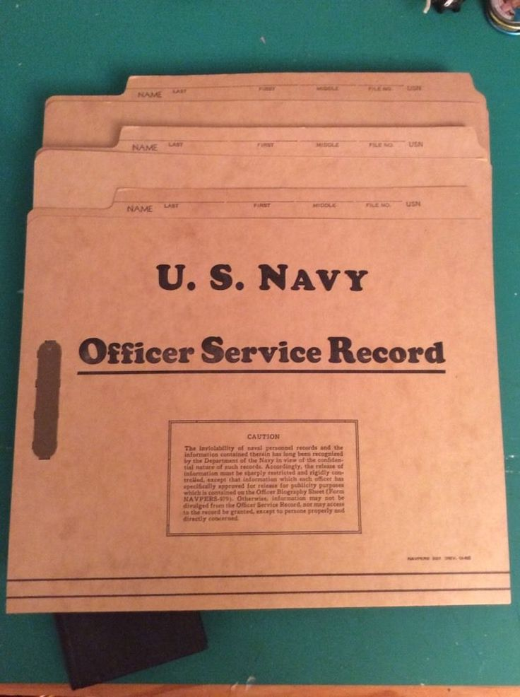 US Navy Officer Service Record Personnel File Lot 3 Empty Unused 1949 1953 | eBay