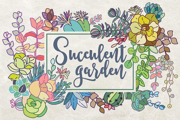 Succulent garden  by Maria Galybina on @creativemarket